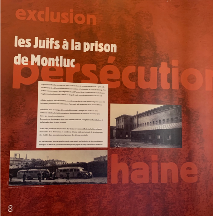 Example of the information panels at the Mémorial National de la Prison de Montluc.